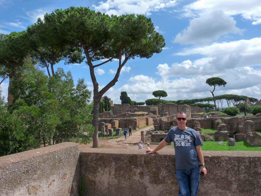 Chris at the Forum Rome
