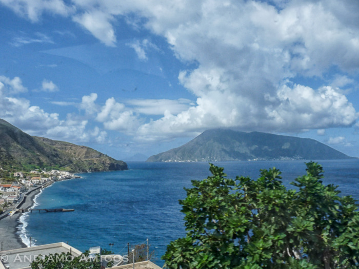 A view of Salina from the North of Lipari