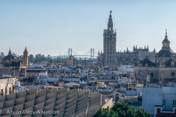 The view of Seville from the Metropol Parasols