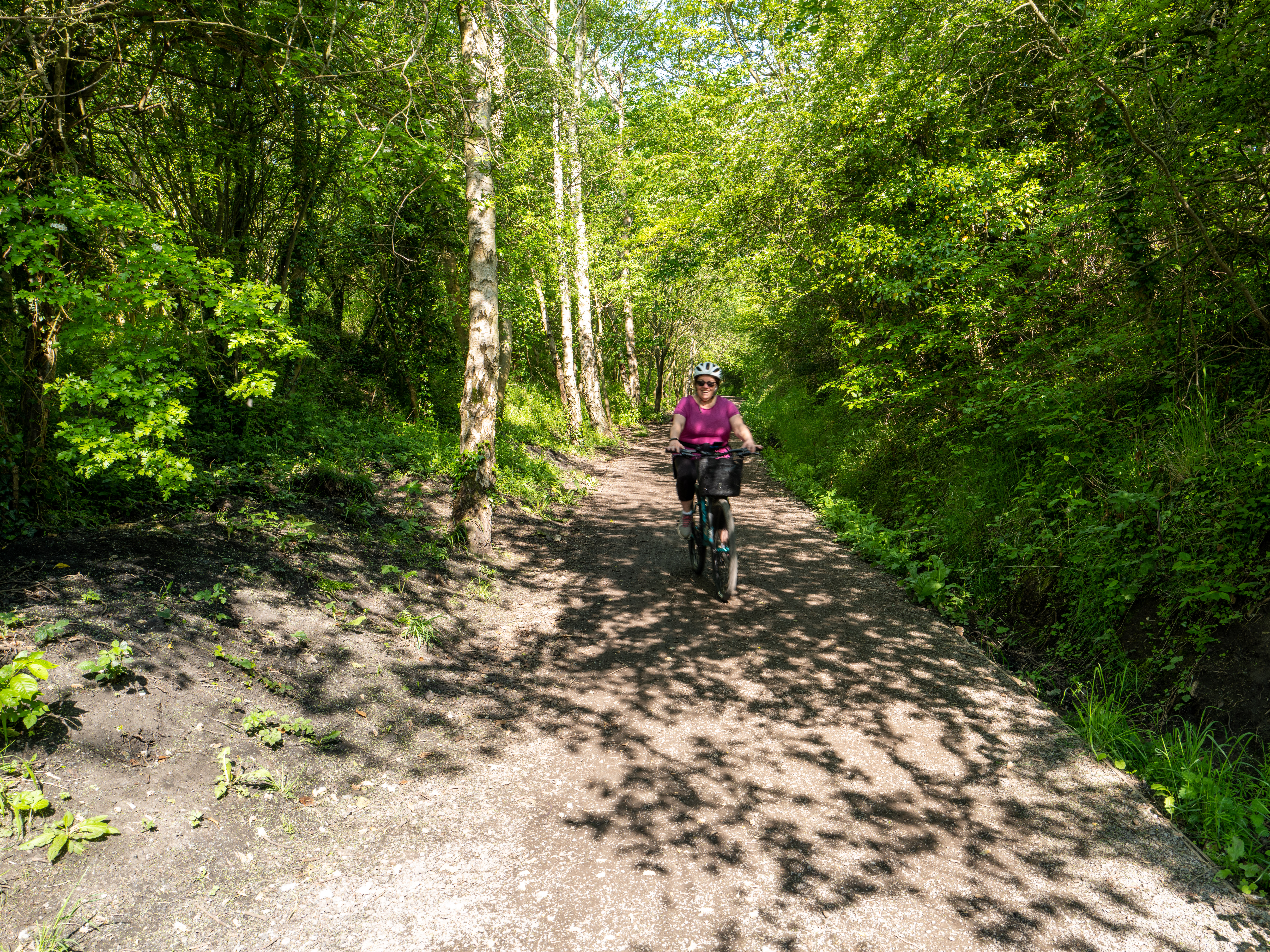 Cycling on the cinder track