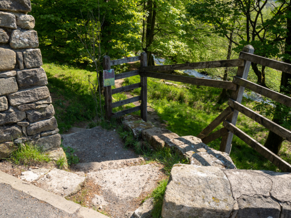 Gate At the start Hardcastle Crags