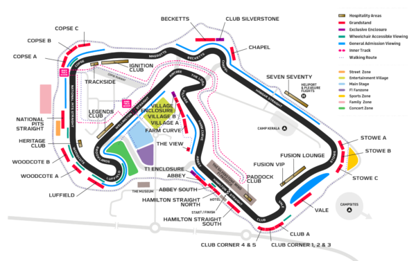 Map of the track
